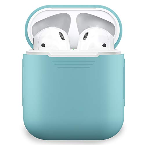 PodSkinz AirPods Case Protective Silicone Cover and Skin for Apple Airpods Charging Case (Diamond Blue)