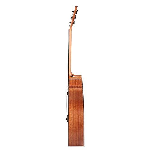 "Donner DAG-1C Beginner Acoustic Guitar Full Size, 41"" Cutaway Guitar Bundle with Gig Bag Tuner Capo Picks Strap String - Image 3"