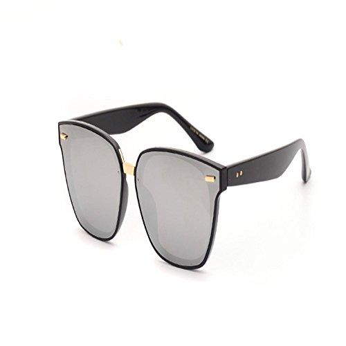 Shop soleil boîte lunettes lunettes de Argenté Lunettes de Lunettes femmes soleil soleil de et hommes pour super de soleil miroir polarisées large 6 de rPq0tr