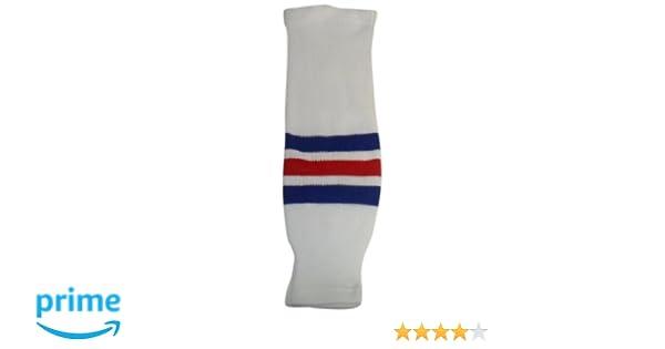 White//Royal//Red Youth//20-Inch DoGree Hockey New York Rangers Knit Hockey Socks