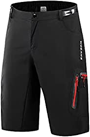 WOSAWE Men's Baggy Cycling Shorts Quick Dry Mountain Bike Bottoms MTB Padded Shorts with 7 Poc