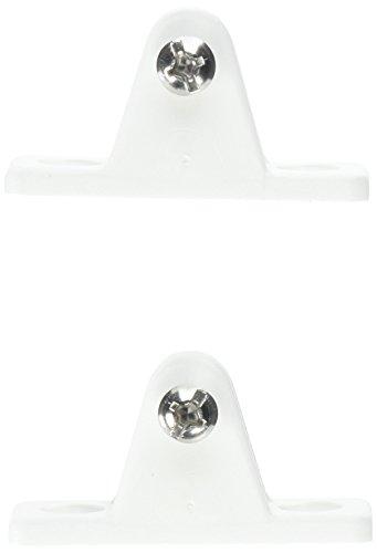 Sea-Dog 273231-1 Top Mount Large Deck Hinge Fitting, Angled-White