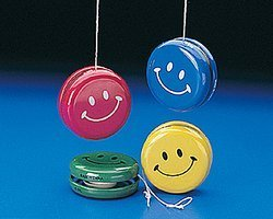 Fun Express Metal Smile Face Yo-Yos - 12 Pieces