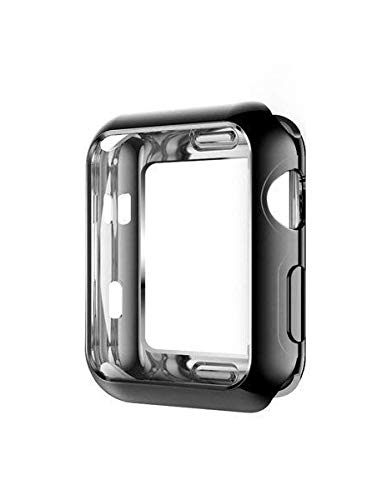WSGLOBAL Apple Watch Series 3 with TPU Protector - All Covered, Touch Sensitive Screen, Ultra-Thin Surrounding Clear Cover for SmartWatch HD (Black, ...