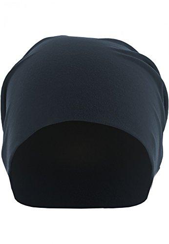 Medium Beanie azul Jersey Unisex Jersey marino Negro MASTERDIS Unisex 6gqPwY01