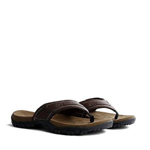 Travelin Slipper Dalen Flip Flops | Herren Outdoor Sandalen Zehentrenner | Sehr Leichten Sommer Slippers in Braun 46 EU