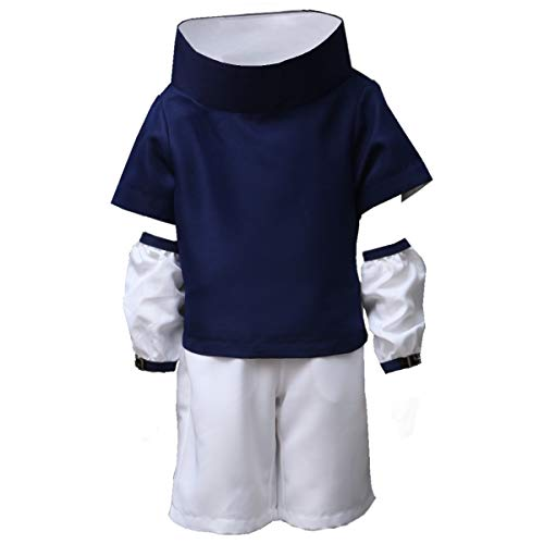 OURCOSPLAY Adult and Kids US Size Naruto Sasuke Uchiha Cosplay Costumes 1st ver Outfits (Child M(3XS))]()
