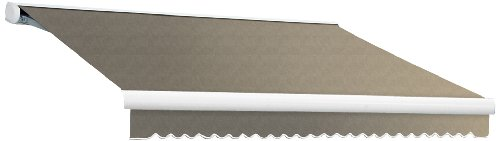 Awntech 14-Feet Key West Full-Cassette Right Motor with Remote Retractable Awning, 120-Inch, Taupe
