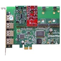 OpenVox A400E11 4 Port Analog PCIe Base Card with 1 FXS and 1 FXO