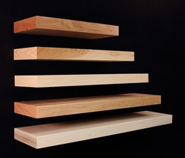 Omega National NPFS0136QUF1 36 in. Long Floating Alder Shelf by Omega National