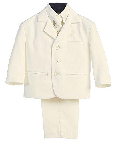 Boy's Ivory Dress Suit with Shirt Vest & Tie (5 Piece) - 5
