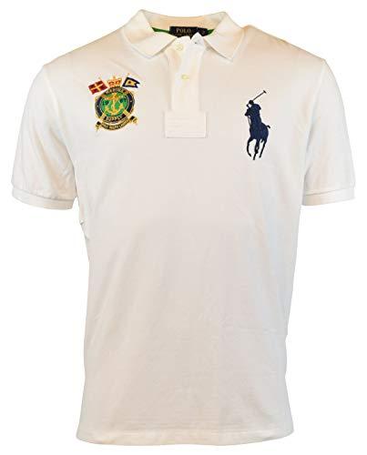(Polo Ralph Lauren Men's Classic-Fit Nautical-Crest Polo Shirt, White, XL)