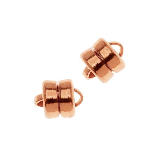 Copper Solid Bracelet - Beadaholique Real Copper Cased Magnetic Clasps 6mm x 8mm (3)
