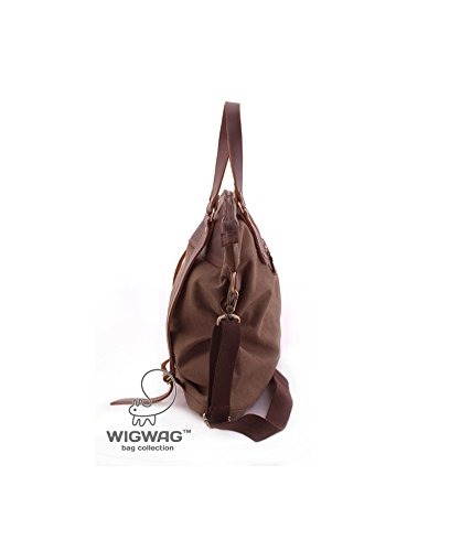 Women's convertible bag, canvas leather backpack, crossbody bag, multifunctional bag