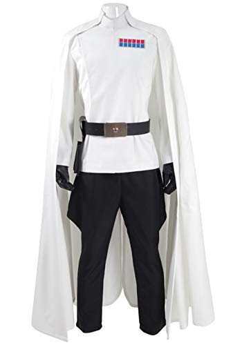 Fancycosplay Mens Battle Uniform White Cloak Full Set Cosplay Costume (Man-XL)