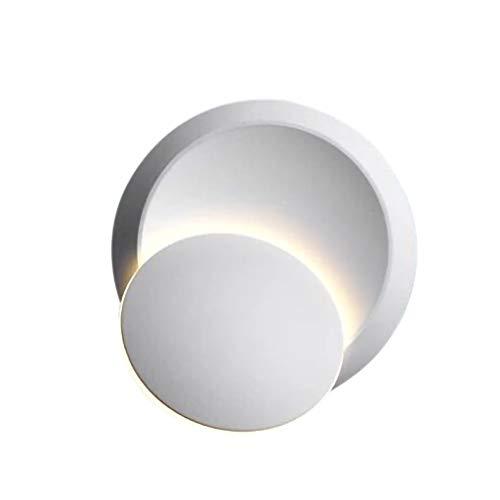 IslandseLED Wall Lamp 360Degree Rotation Simple Corridor Bedroom Aisle Round Night Light (White ()