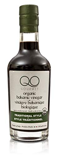 - QO Organic Thick Aged Balsamic Vinegar of Modena | 4% Acidity | Gourmet Traditional Style | Dense Premium Italian Vinegar | Aceto Balsamico di Modena | Crafted in Modena | 8.5 fl.oz