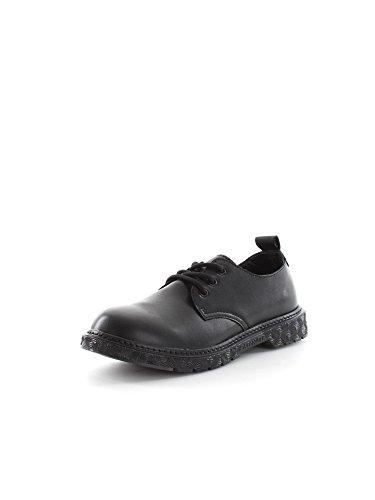 CAF NOIR FH904 zapatos negros lisos mujer cordones derby I16.010 NERO