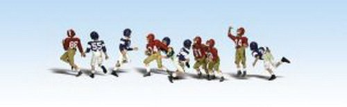 Youth Football Players Ho Scale Woodland Scenics