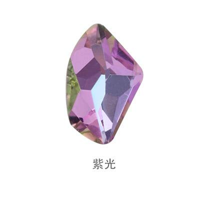 Calvas K9 Crystal Colors Galactic Shape Fancy Stone 9x14mm Pointback Glass Stones Jewelry Stone - (Color: vitrail Light, Item Diameter: 9x14mm 20pcs) ()