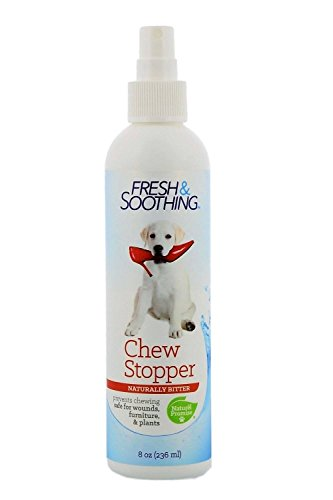 - Naturel Promise Fresh & Soothing Naturally Bitter Chew Stopper for Dogs and Cats, 8 oz.