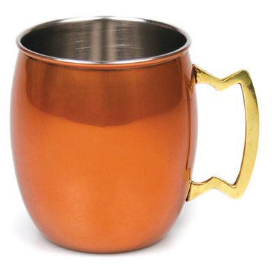 Orange Finish Stainless Steel Moscow Mule Mug, 20 Oz., Case/24 by Caterer's Warehouse