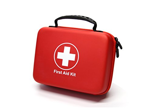 Compact First Aid Kit (228pcs) Designed for Family Emergency Care. Waterproof EVA Case and Bag is Ideal for The Car, Home, Boat, School, Camping, Hiking, Office, Sports. Protect Your Loved - First Kit Emergency Aid Preparedness