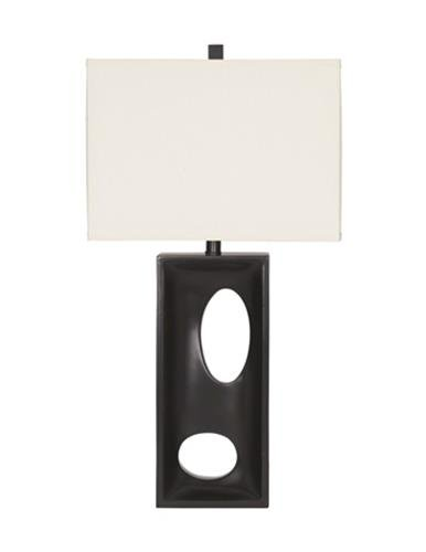 Ashley Furniture Signature Design - Maxine Table Lamp - Contemporary - Set of 2 - Black (Contemporary Buffet Lamps)