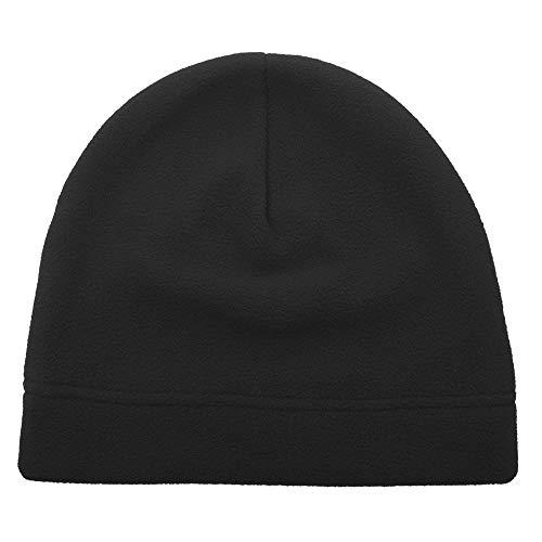 Opromo Men's Fleece Beanie Hat Soft Warm Winter Windproof Under Helmet Skull Cap -