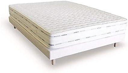 Cama 2 personas 140 x 190 somier-colchón con memoria de forma conjunto de camas