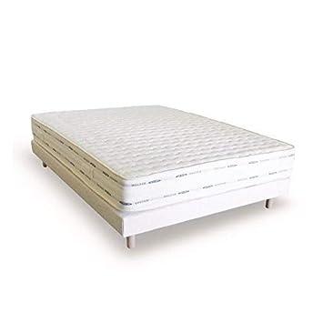 Cama 2 personas 140 x 190 somier-colchón con memoria de forma conjunto de camas: Amazon.es: Hogar