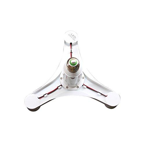 LingStar 1 To 4 E27 LED Lamp Bulbs Socket Splitter Adapter Holder Base For Photo Studio Home Building Party (1 to 4, 1pcs)