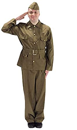 Adult Mens Ww2 British Army Military Soldier 1940s Home Guard Fancy