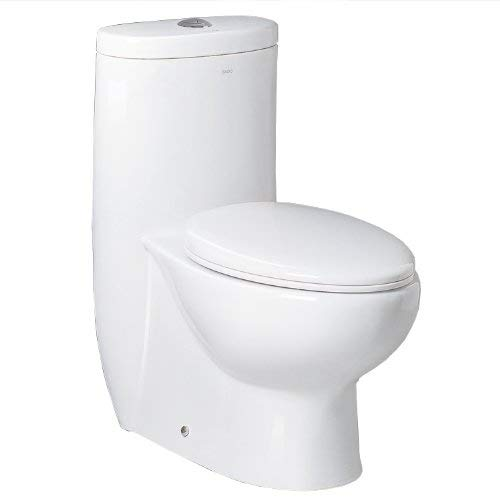 Ariel Bath Hermes Contemporary Elongated One Piece Toilet, White by Ariel Bath