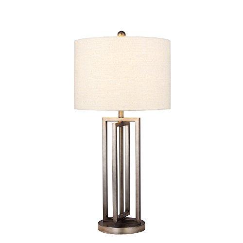 Cory Martin W-1539 Traditional Fangio Lighting's Metal Table Lamp with Modern Crisscross Cross Design, 14