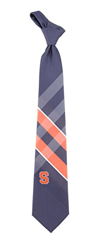 Syracuse Grid Neck Tie with NCAA College Sports Team Logo