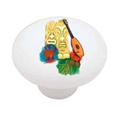 Tiki Paradise Decorative High Gloss Ceramic Drawer Knob