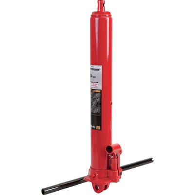 Strongway Hydraulic Long Ram Jack – 3-Ton Capacity, Single Piston, Clevis Base