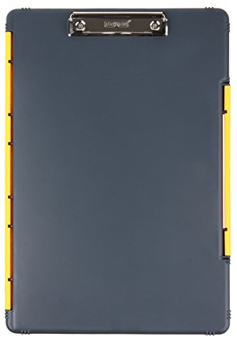 Dexas XL Legal Size Slimcase Storage Clipboard, Gray with Yellow (Legal Clipboard)