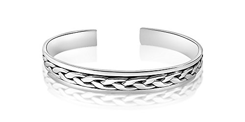 Mesdames Sterling Silver Bracelet style Weave avec Alfred & Co. Bangle Box