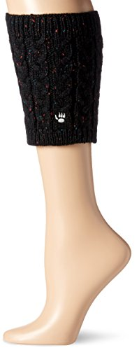 Bearpaw Women's Cable Knit Boot Topper, Black, OS from BEARPAW