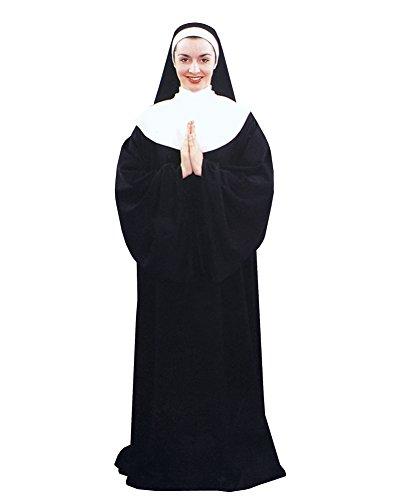 Nun Mask Costume (Nun Costume Convent Religious Costume Theatre Costumes Sizes: One Size)