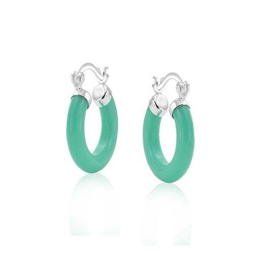 Bling Jewelry Boucles d'oreille Bali Style avec Pierre de Turquoise synthetique et argent