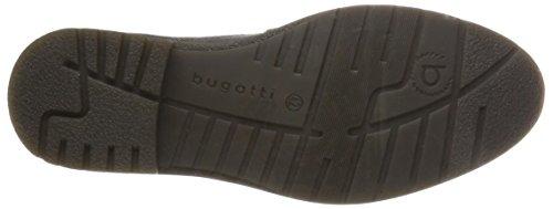 Bugatti Mens Läder Snörning Chukka Boots Mörkgrå
