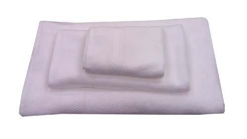 - Aegean Apparel 100% Cotton, 3-Piece Towel Set, White
