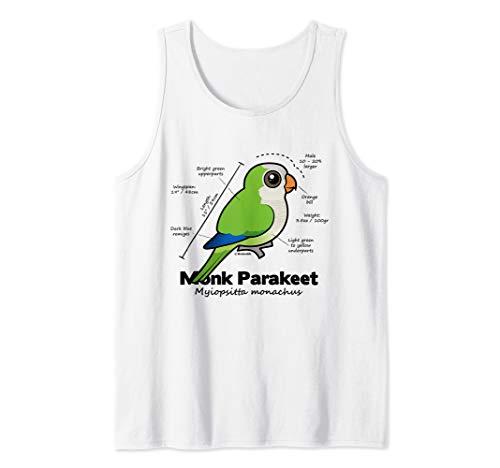 Cute Monk Parakeet Statistics   Quaker Parrot Birdorable Tank Top
