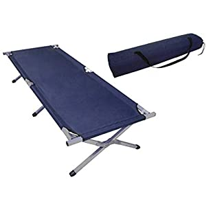 SavingPlus Outdoor Folding Camping Bed Light Aluminium Steel Legs With Carry Bag New