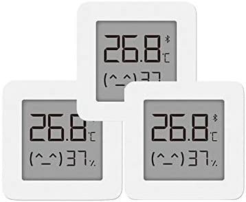 für Xiaomi Mi Hygrometer Digital Thermometer Innen Bluetooth Thermometer 2 Wireless Smart Elektrische Digital Hygrometer Thermometer Arbeit für Mijia APP,3 PCS