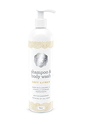 Baja Baby Citrus Shampoo and Body Wash - 16 fl oz - FREE of Sulphates, Parabens and Phosphates - Organic, Natural Baby Wash - Gentle for Kids of All Ages - From our Honest Company to Your Happy Home from Baja Baby Gear