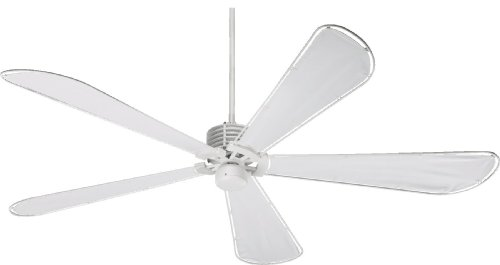 quorum ceiling fans. Quorum International 159725-8 Dragonfly Patio Ceiling Fan With White Canvas Water Resistant Blades, Fans